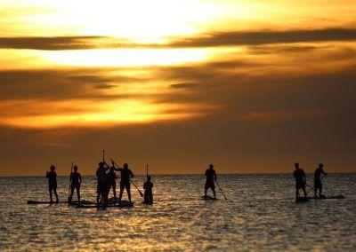 paddle boarding sunset ibiza